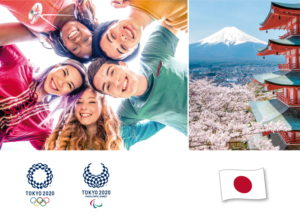 """Cover der Unterrichtsmaterialien """"Olympia ruft: Mach mit!"""" Tokio 2020"""